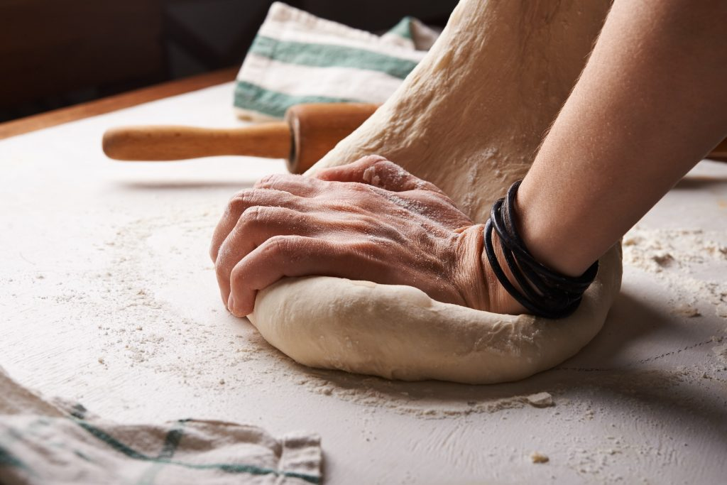 kneading a dough