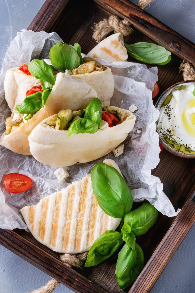Vegetarian recipes: Marinated Lentil Garden Salad Pita