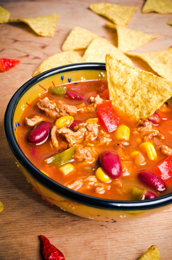 Slow Cooker Beef Taco Soup
