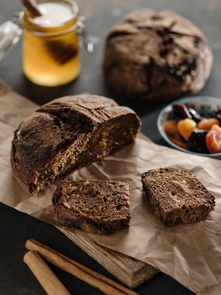 Buckwheat Honey and Rye French Spice Bread