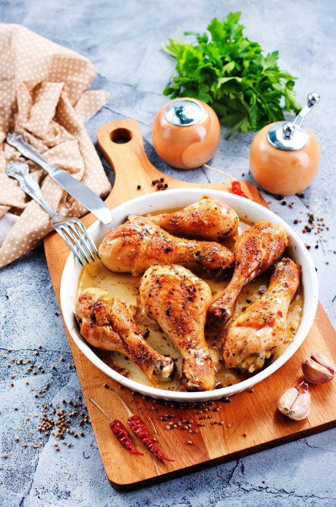 Buckwheat Honey Spiced Chicken Thighs