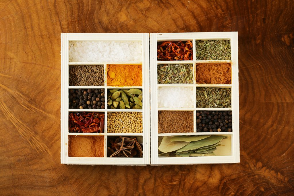 Natural spice, their use, and table